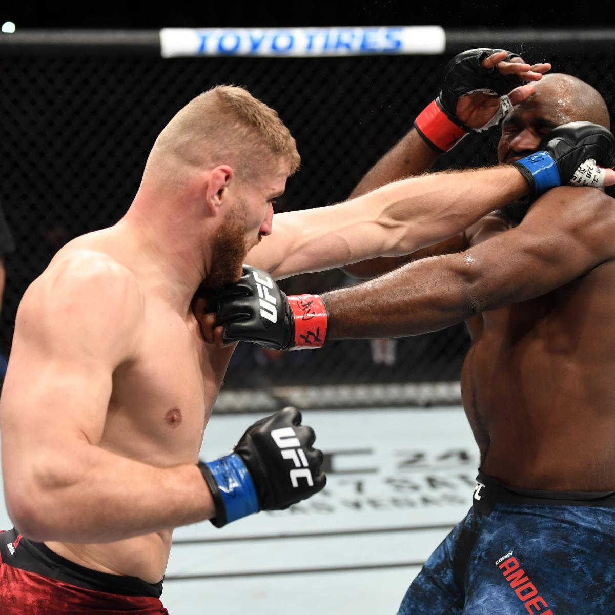 UFC Fight Night 167 Results: Blachowicz Beats Anderson via 1st-Round Knockout