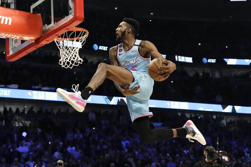 Image result for derrick jones jr dunk contest 2020