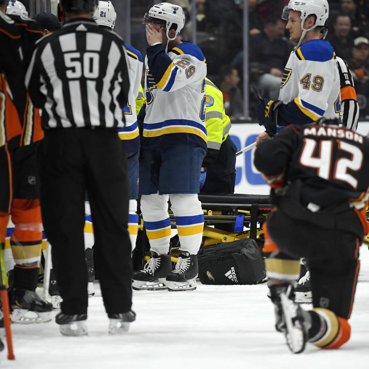 Blues vs. Ducks Rescheduled for March 11 After Jay Bouwmeester Cardiac Emergency