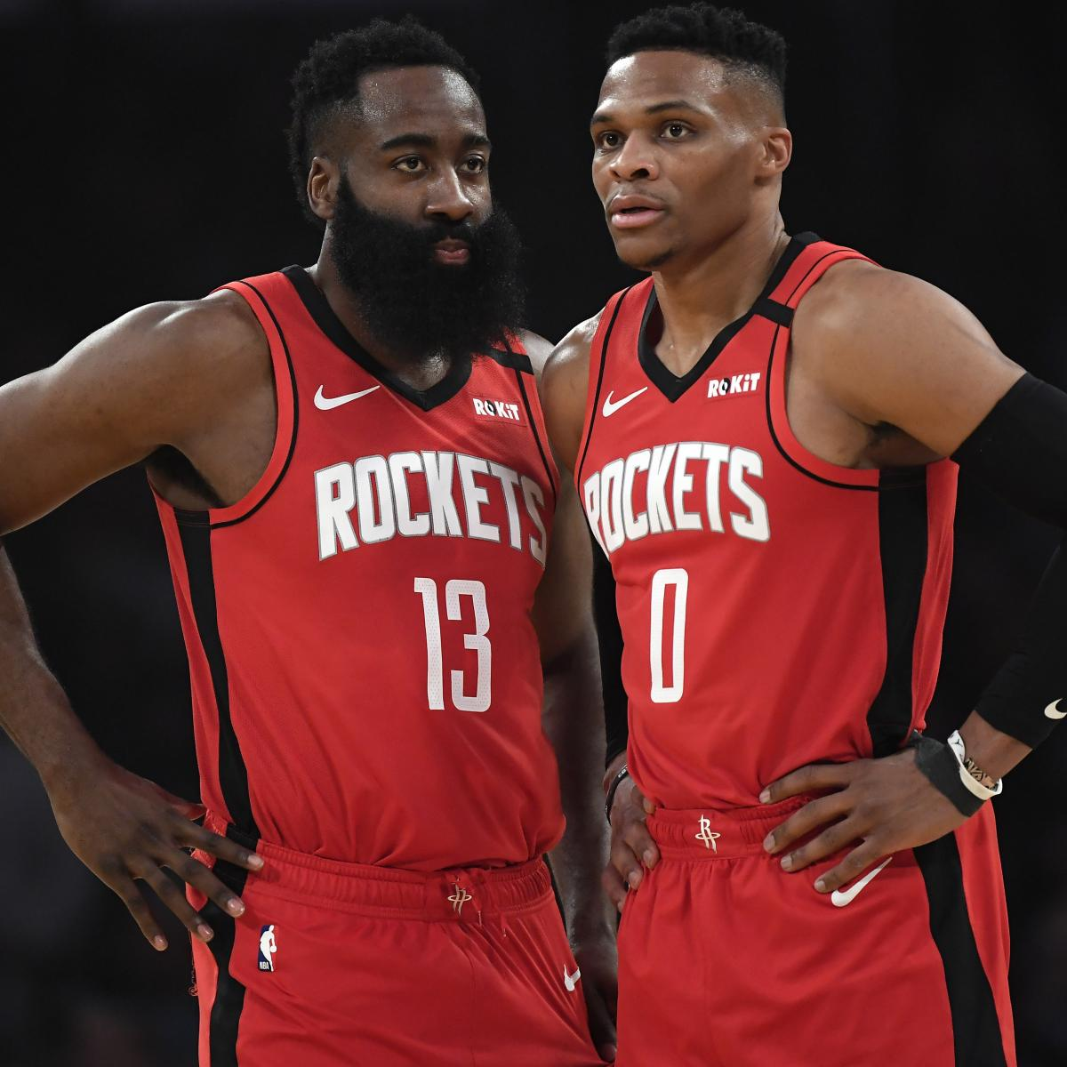 Russell Westbrook Estimates James Harden Spends $500K Annually on Clothes