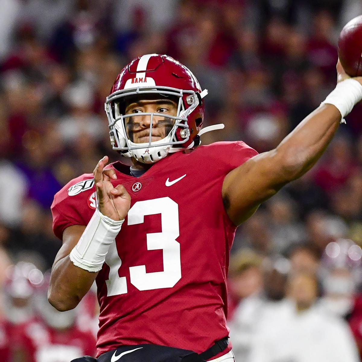 Tua Tagovailoa NFL Draft Odds: Lions, Dolphins Favored to Select Ex-Alabama QB