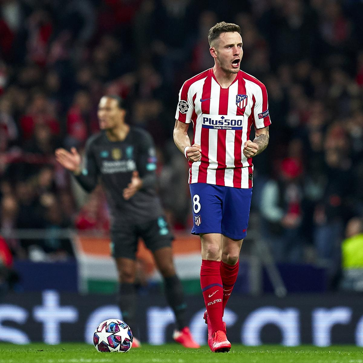 Saul Niguez Leads Atletico Madrid Past Liverpool 1-0 in UCL Round of 16 Leg 1
