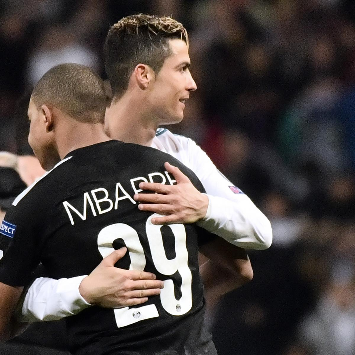 Cristiano Ronaldo Says 'Fantastic' Kylian Mbappe Is 'The Future and the Present'