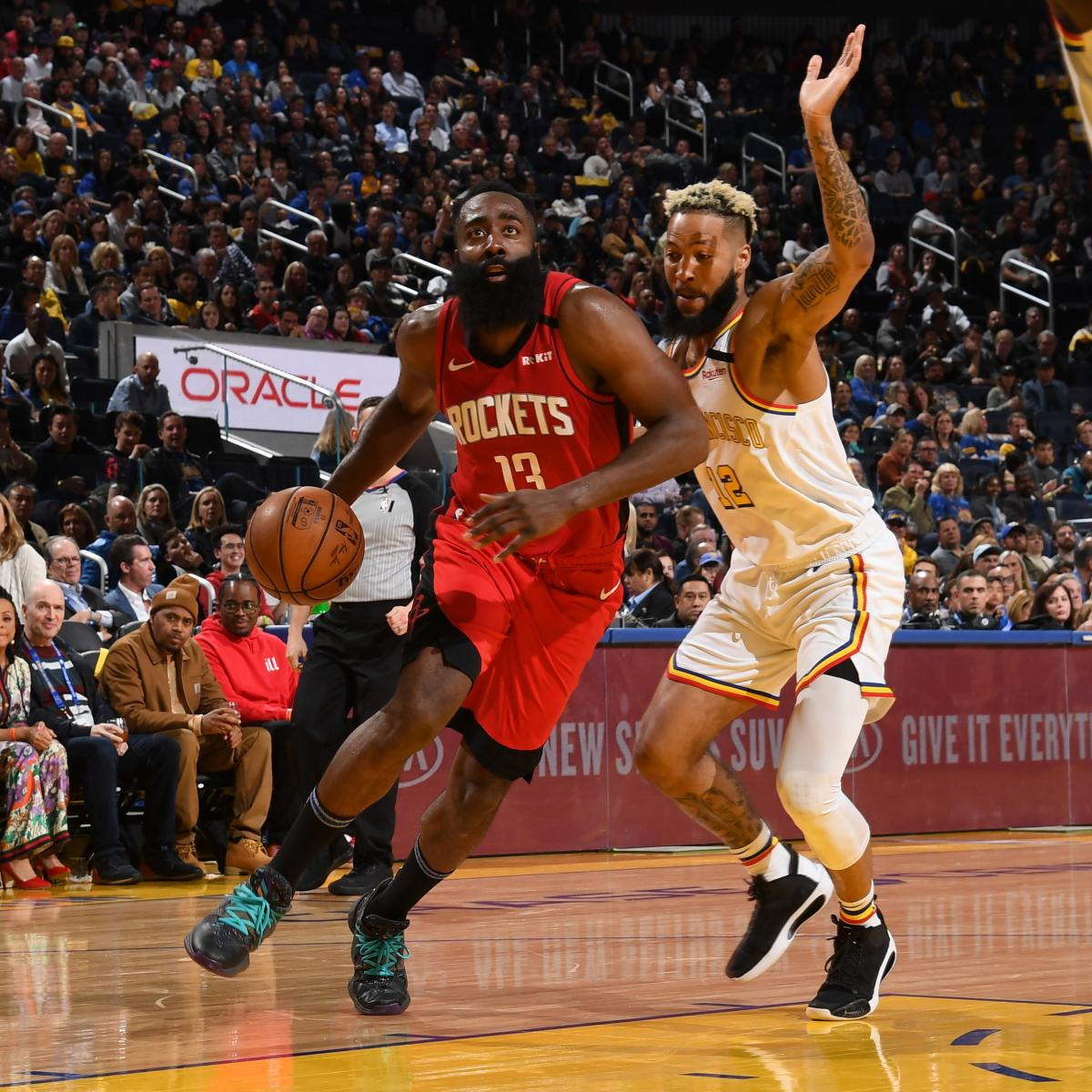 James Harden, Russell Westbrook Lead Rockets to 135-105 Blowout over Warriors