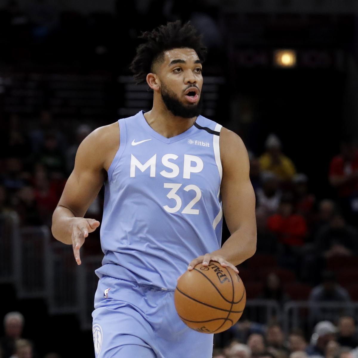 Report: Karl-Anthony Towns 'Desperately' Wants to Return from Wrist Injury