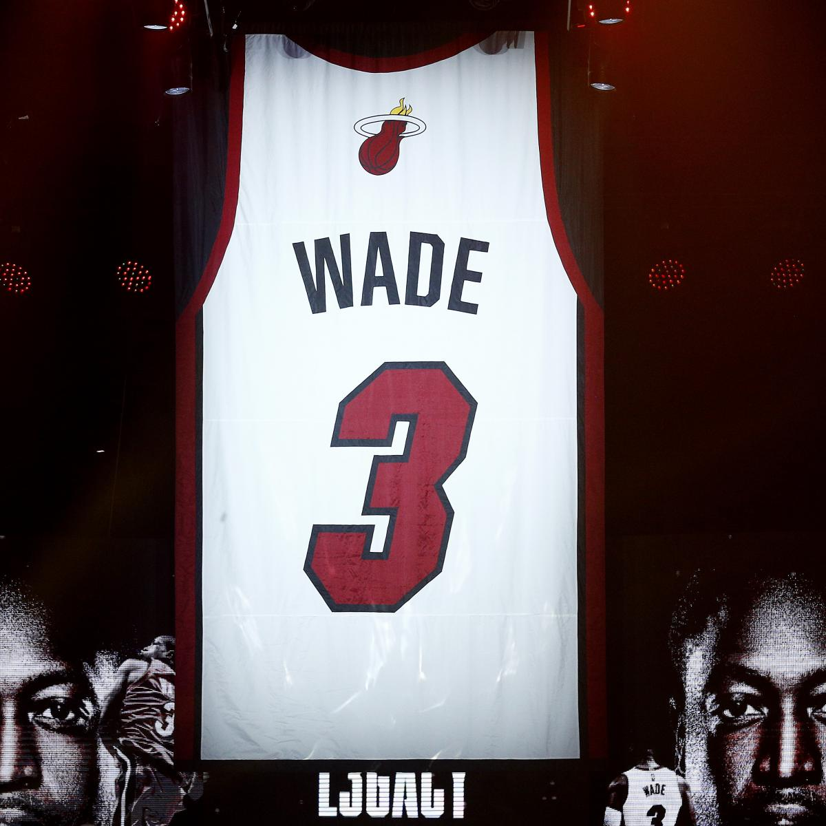 Dwyane Wade Honored by Heat with Tribute Video During Jersey Retirement Ceremony