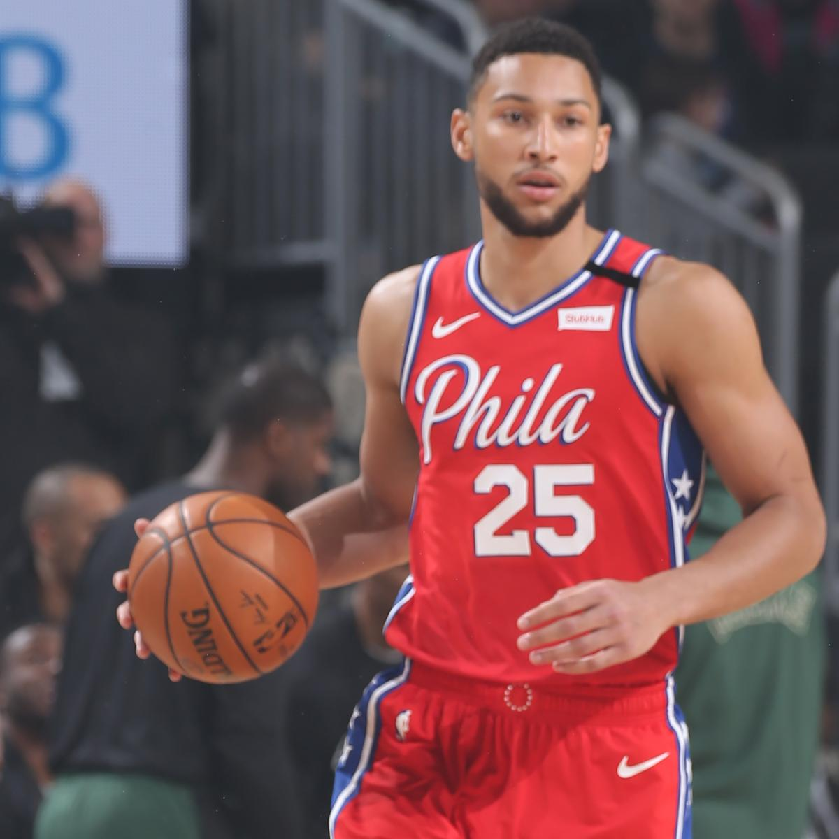 Report: 76ers' Ben Simmons 'Emotional' After X-Rays on Back Injury Amid Concerns
