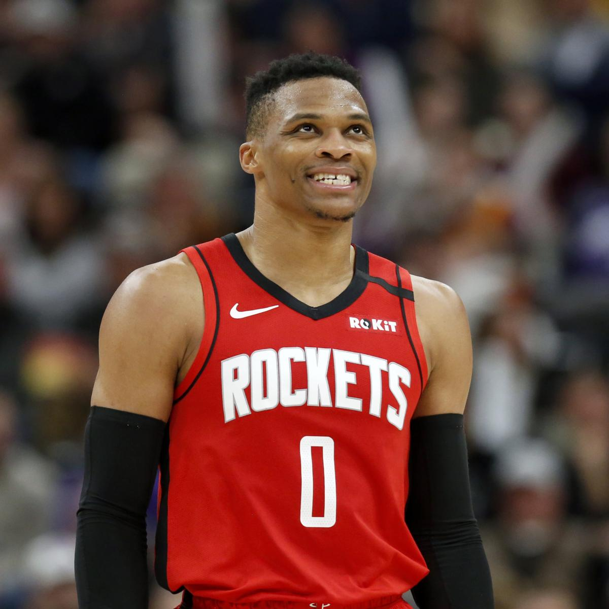 Rockets PG Russell Westbrook Says 'We're the Only Team That's in Our Way'