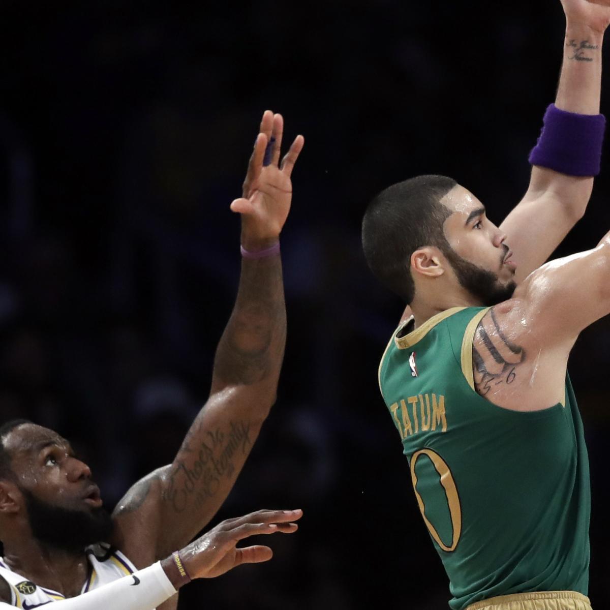 LeBron James Calls Jayson Tatum an 'Absolute Problem' After 41 Points vs. Lakers