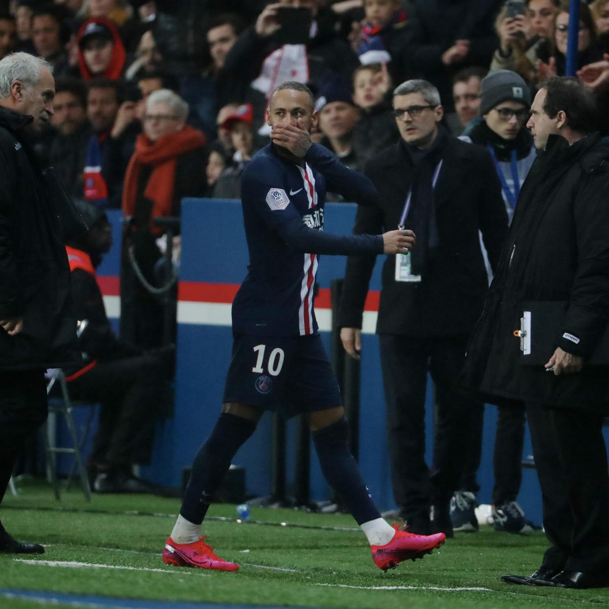 Thomas Tuchel Says Neymar Reaction Was 'Human' After PSG Red Card vs. Bordeaux