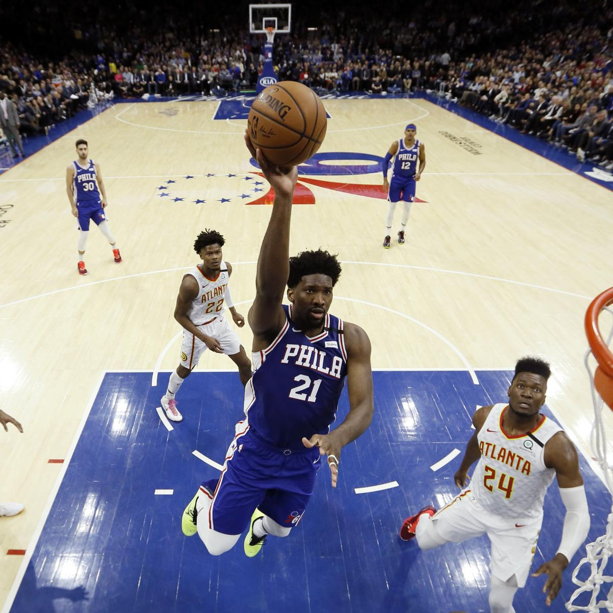 Joel Embiid Scores Career-High 49 Points to Power 76ers Past Trae Young, Hawks