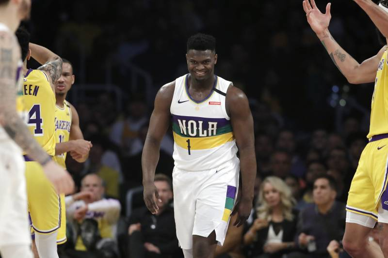 Image result for zion williamson vs lakers 2020