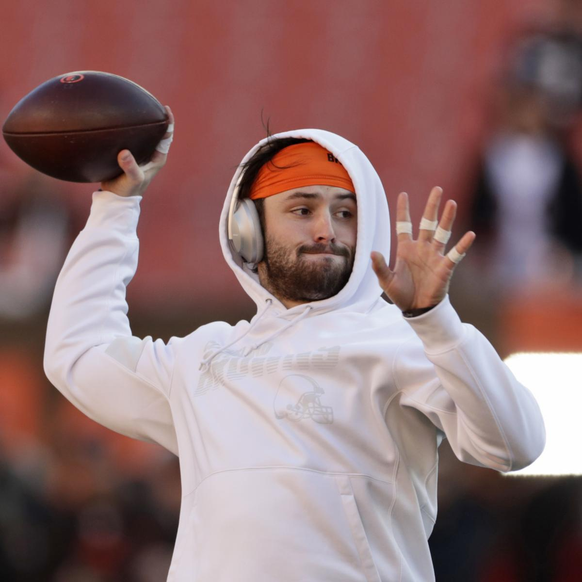Report: Browns' Baker Mayfield Aims to Be Slimmer, Faster After 2019 Struggles