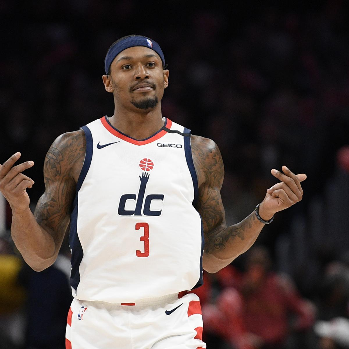 Wizards' Bradley Beal Says He Was Drug-Tested After Back-to-Back 50-Point Games