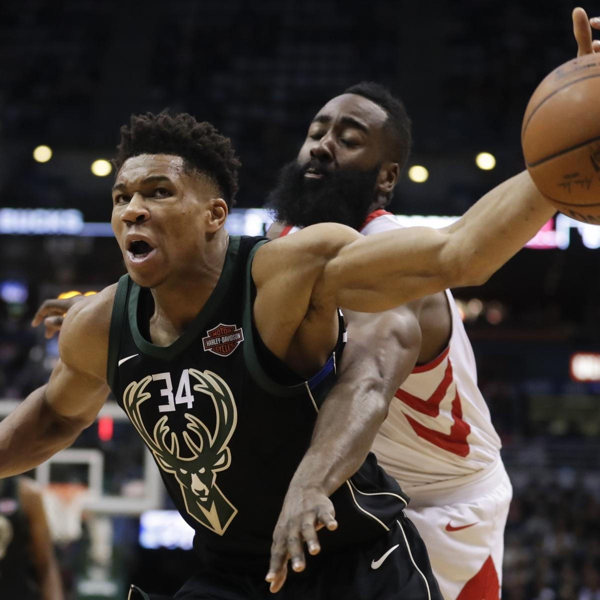 Giannis Downplays Beef with James Harden: 'I'm Just Trying to Do My Job'