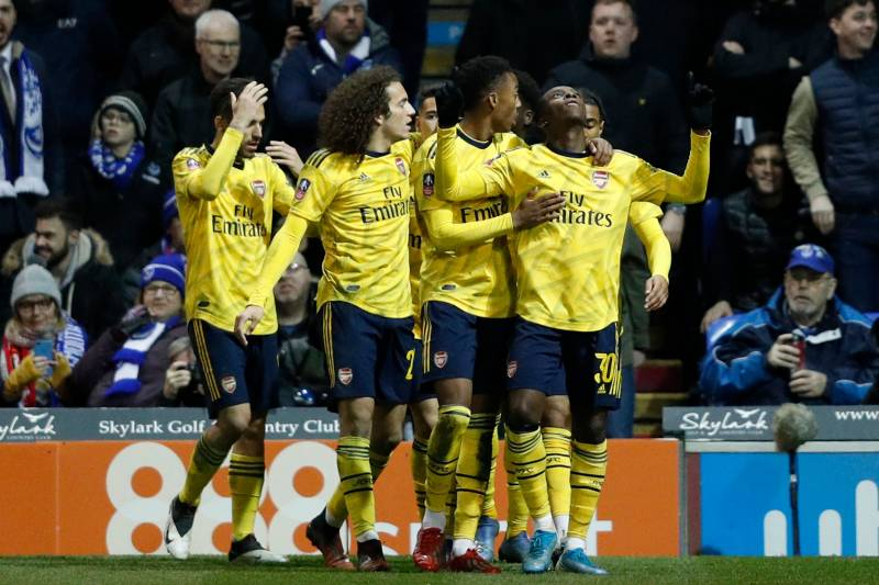 Sokratis, Eddie Nketiah Fire Arsenal Past Portsmouth in 2020 FA Cup 5th Round