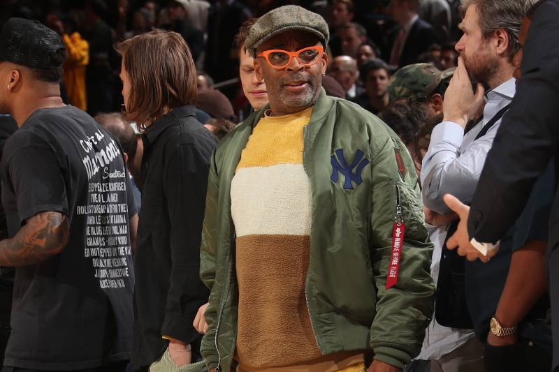 NEW YORK, NY - MARCH 2: Celebrity, Spike Lee, attends a game between the Houston Rockets and the New York Knicks on March 2, 2020 at Madison Square Garden in New York City, New York.  NOTE TO USER: User expressly acknowledges and agrees that, by downloading and or using this photograph, User is consenting to the terms and conditions of the Getty Images License Agreement. Mandatory Copyright Notice: Copyright 2020 NBAE  (Photo by Nathaniel S. Butler/NBAE via Getty Images)
