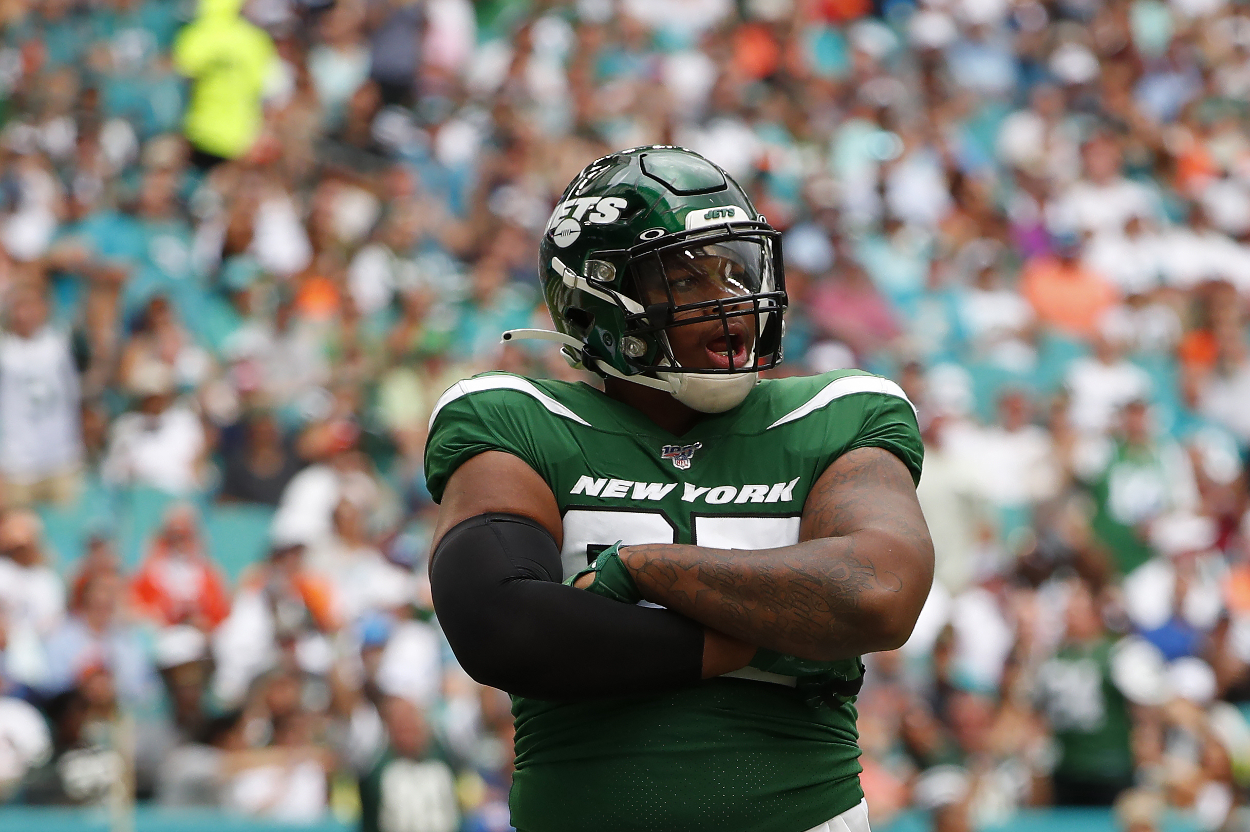 Jets' Quinnen Williams Arrested for Allegedly Trying to Board Flight with  Gun | Bleacher Report | Latest News, Videos and Highlights