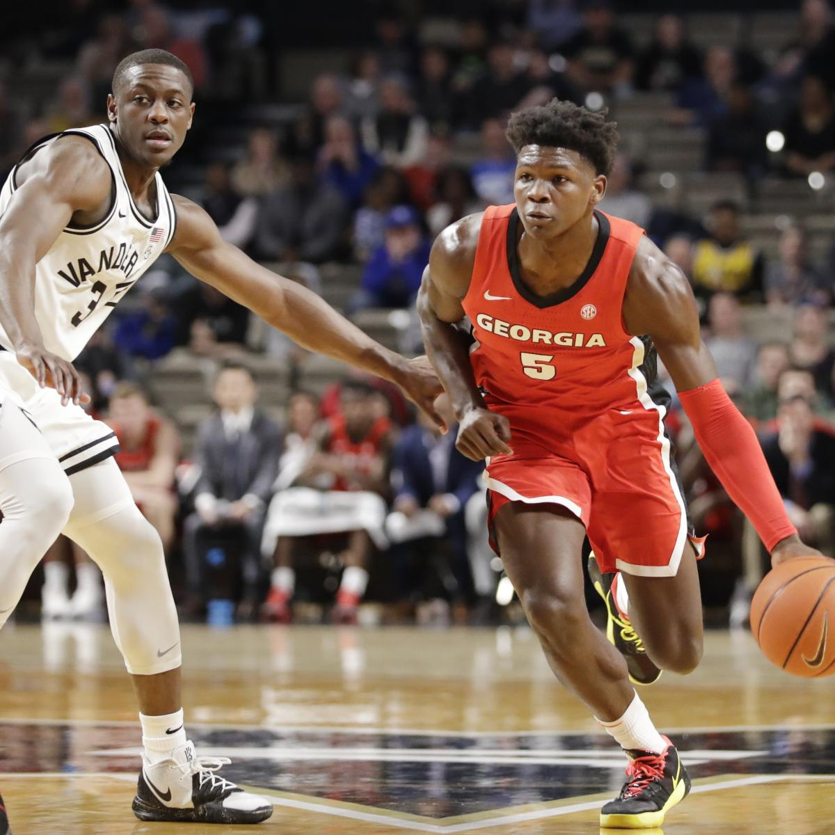 NBA Mock Draft 2020: Predicting Where Anthony Edwards, Top Prospects Will Land