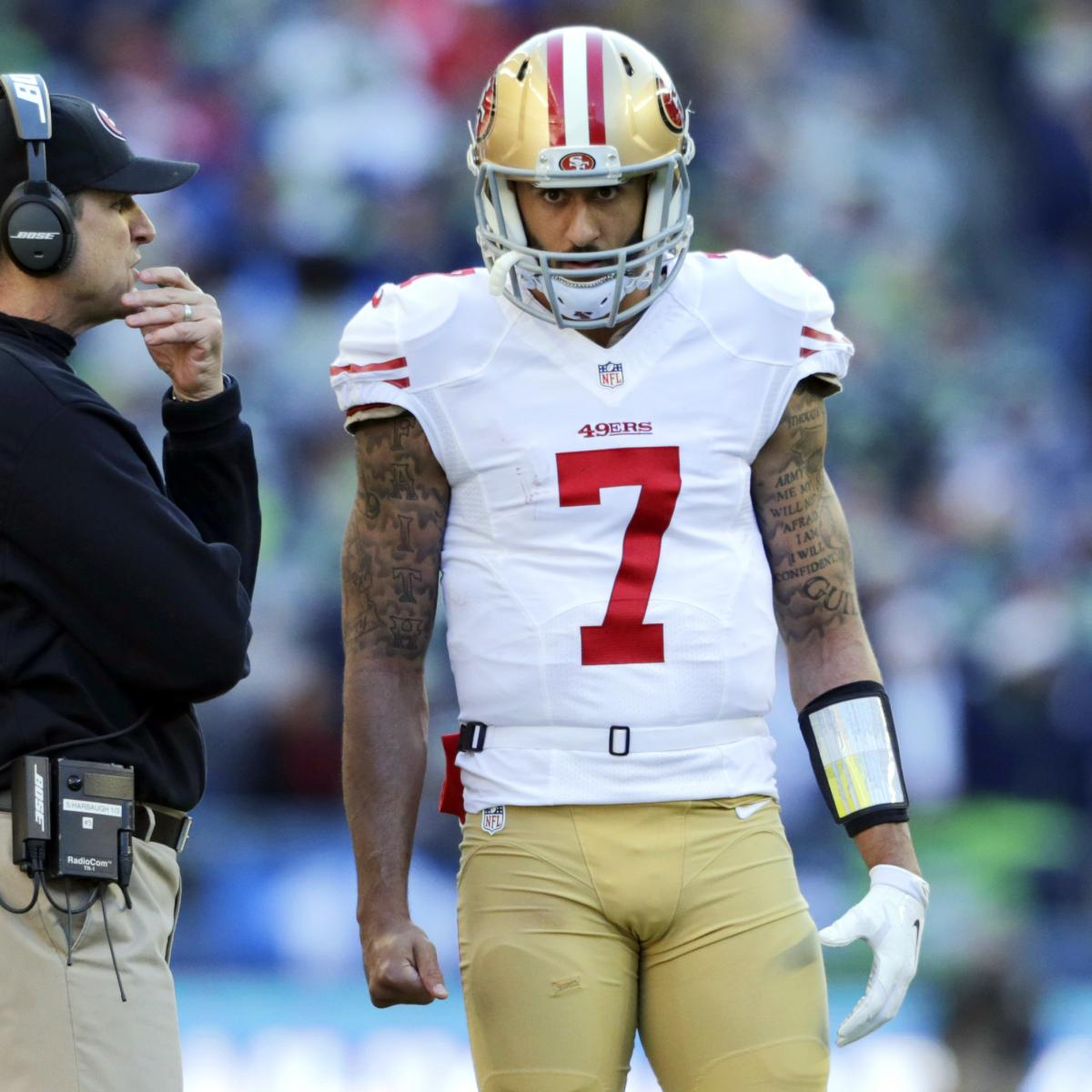 Jim Harbaugh Says NFL Teams Should Be Willing to Sign Colin Kaepernick