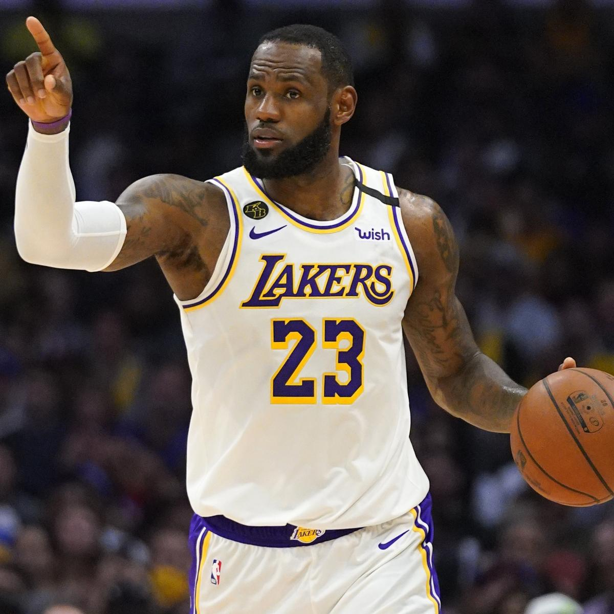 Lakers Lebron James Will Wear Last Name On Jersey Not Social Justice Message Bleacher Report Latest News Videos And Highlights