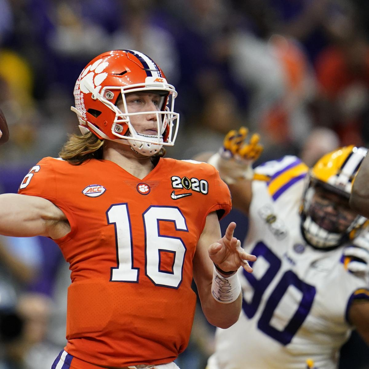 NFL Draft 2021: Mock Selection Order, Predictions for Trevor Lawrence, Top Picks