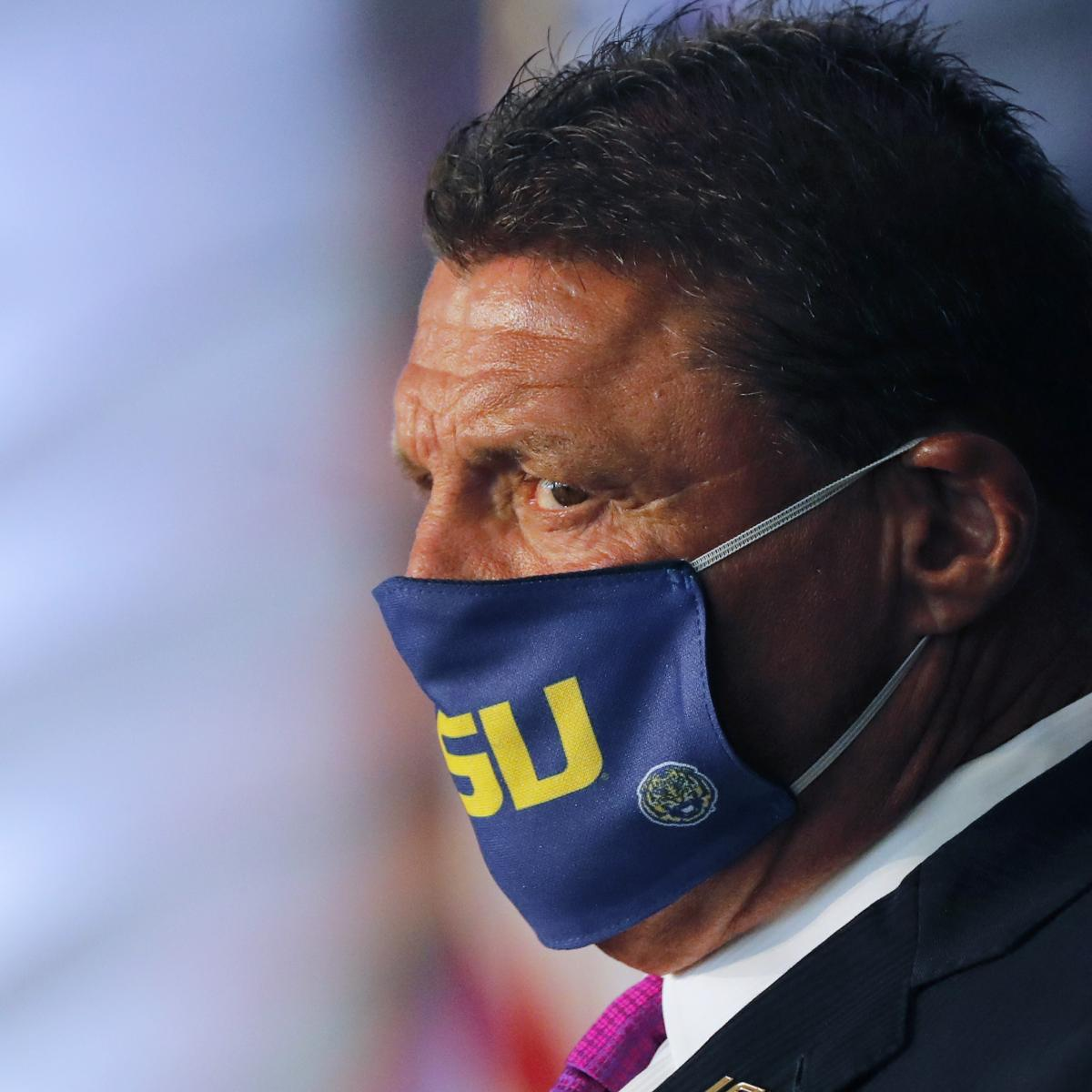 LSU's Ed Orgeron: 'Gut Feeling' Is There Will Be CFB Season Amid Pandemic thumbnail
