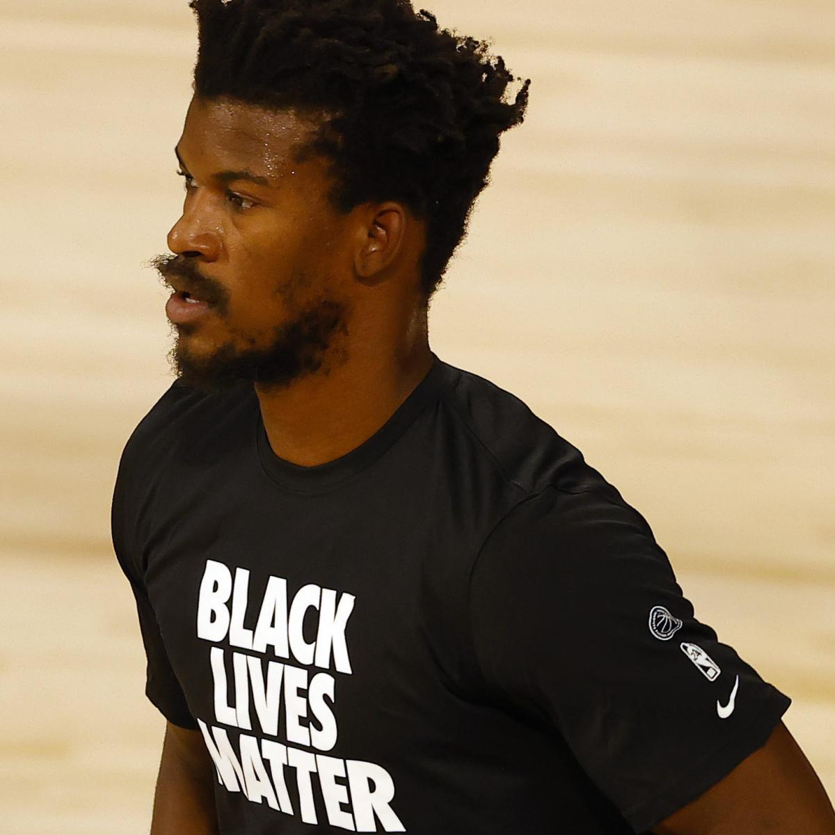 Video Jimmy Butler Wore Jersey With No Name Had To Change For Game To Begin Bleacher Report Latest News Videos And Highlights