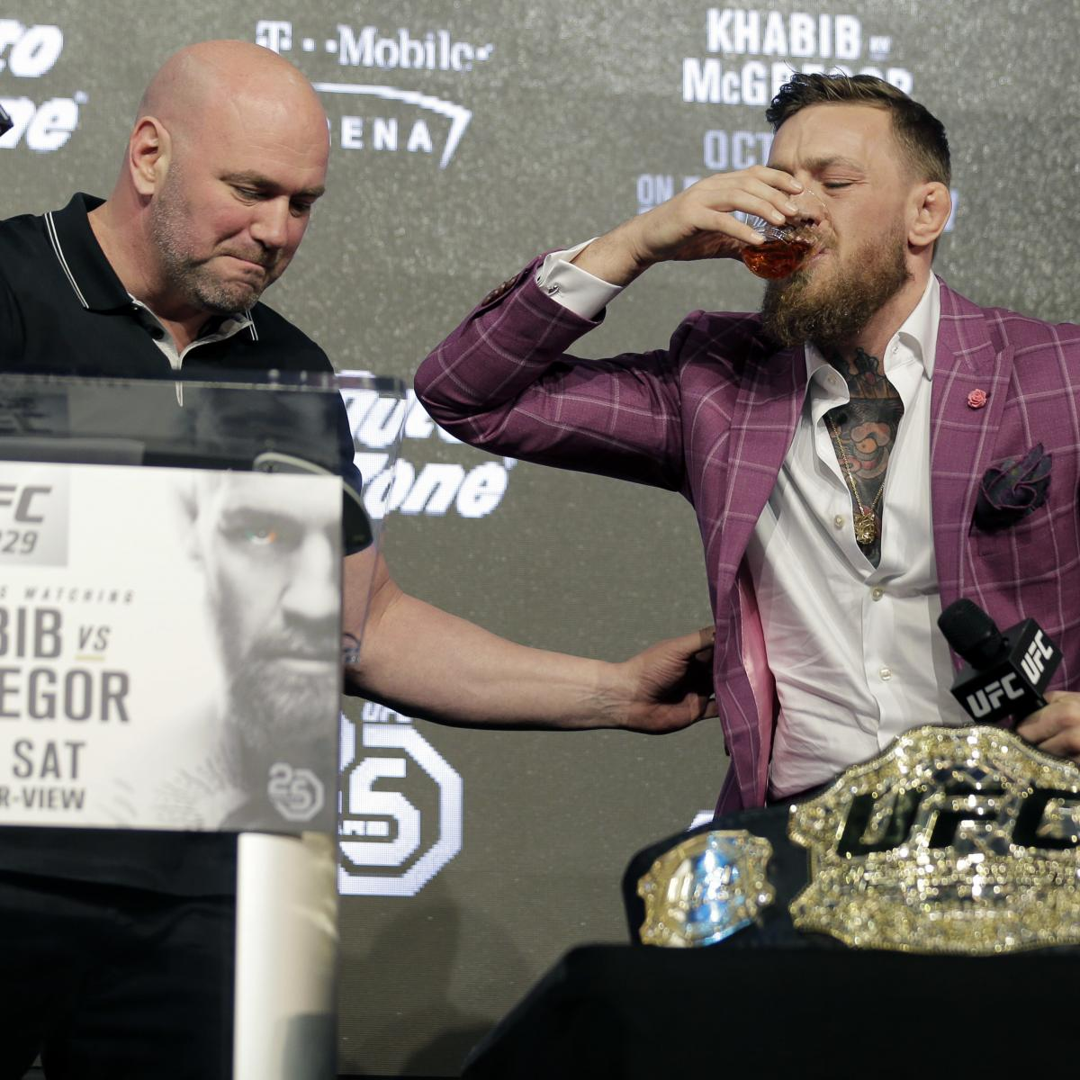 Dana White Guarantees Conor McGregor Won't Have Another UFC Fight in 2020
