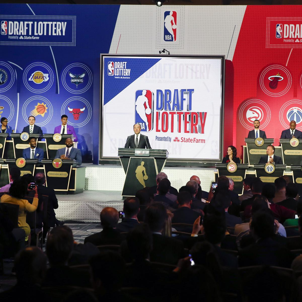 NBA Draft Lottery 2020: Projected Order and Odds for Every Team Involved