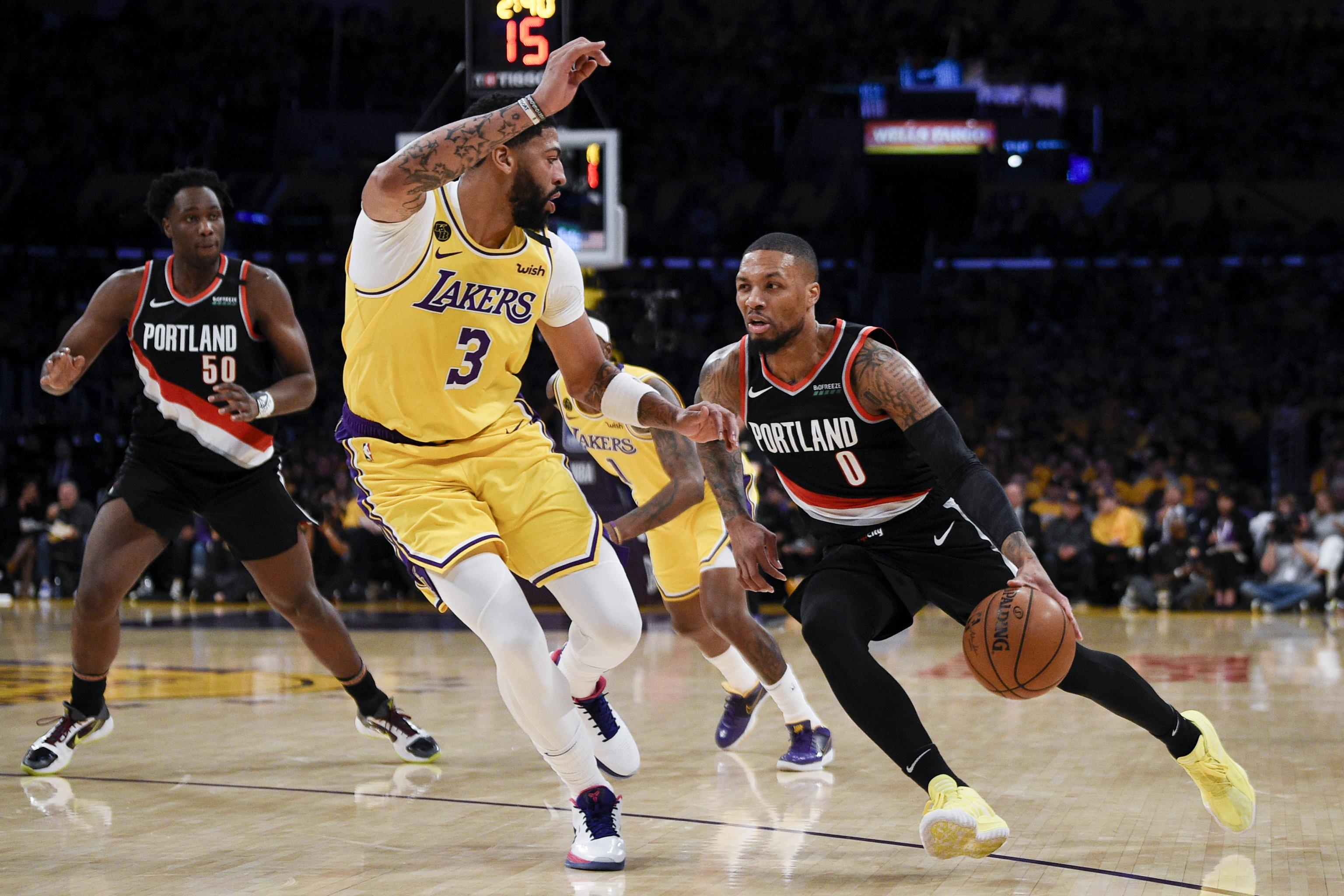 Anthony Davis Praises Damian Lillard Ahead of Lakers vs. Blazers: 'He's  Balling' | Bleacher Report | Latest News, Videos and Highlights