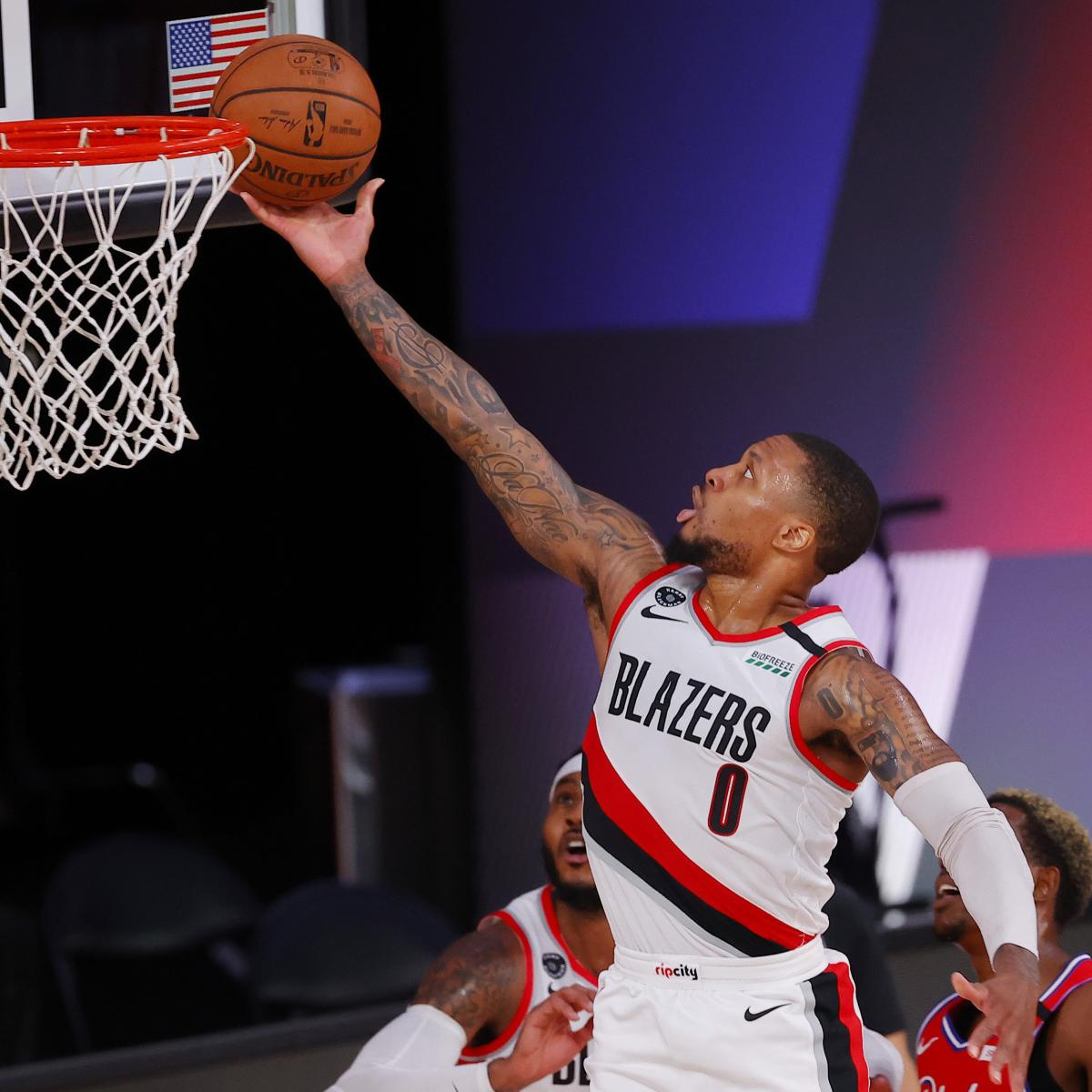 Report: Damian Lillard's Knee Injury Not a Long-Term Concern for Trail Blazers