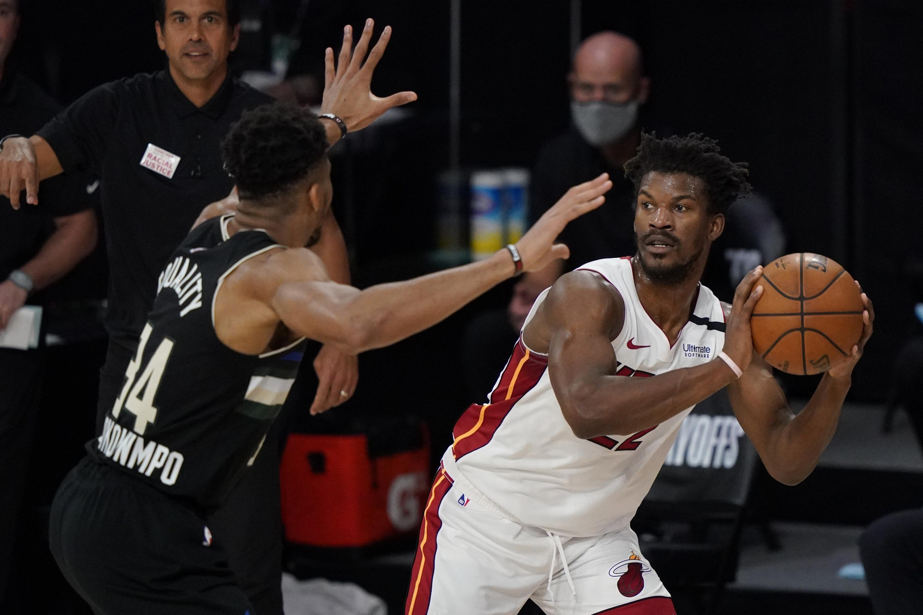 Giannis Game Ending Foul On Jimmy Butler In Bucks Vs Heat Explained By Ref Bleacher Report Latest News Videos And Highlights