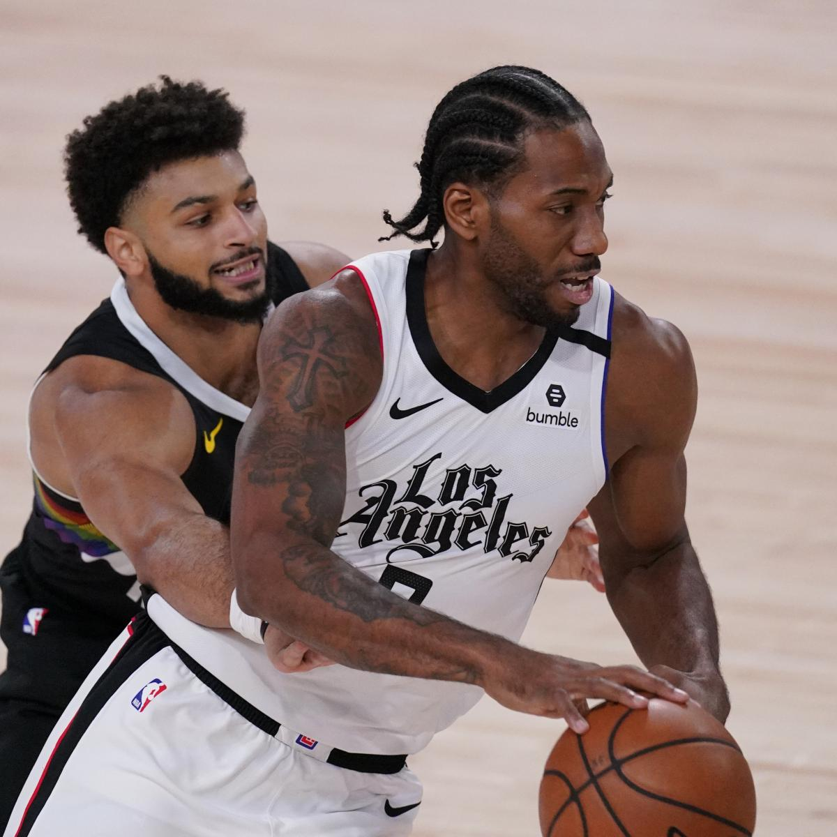Paul George Jokes About Kawhi Leonard's 'Extra-Long Middle Finger' After Block thumbnail
