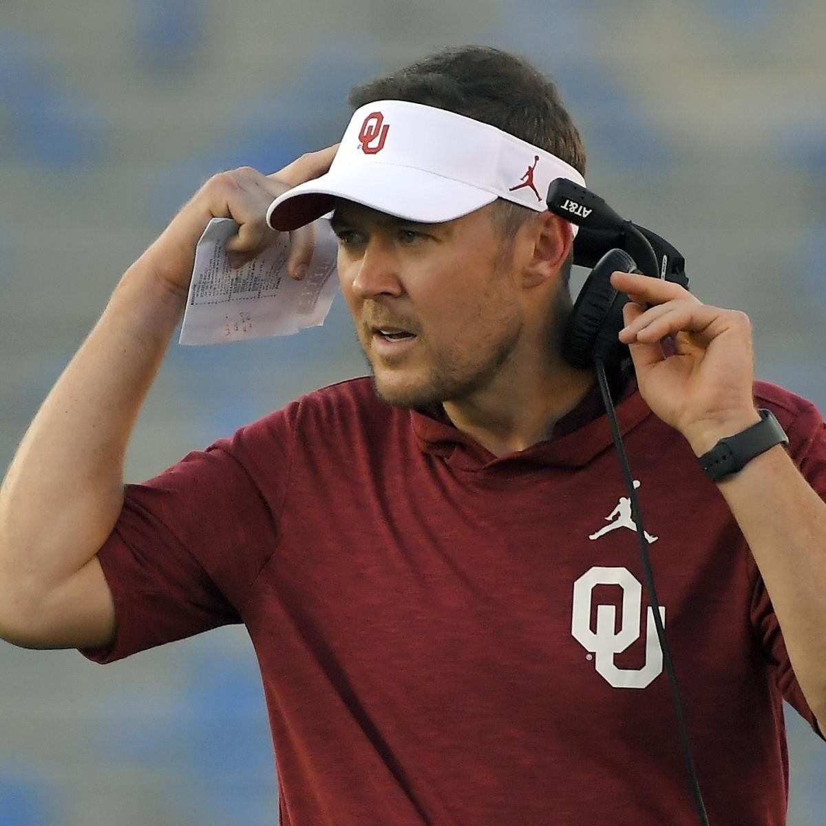 Lincoln Riley: Oklahoma Won't Release COVID-19 Info as 'Competitive Advantage' thumbnail