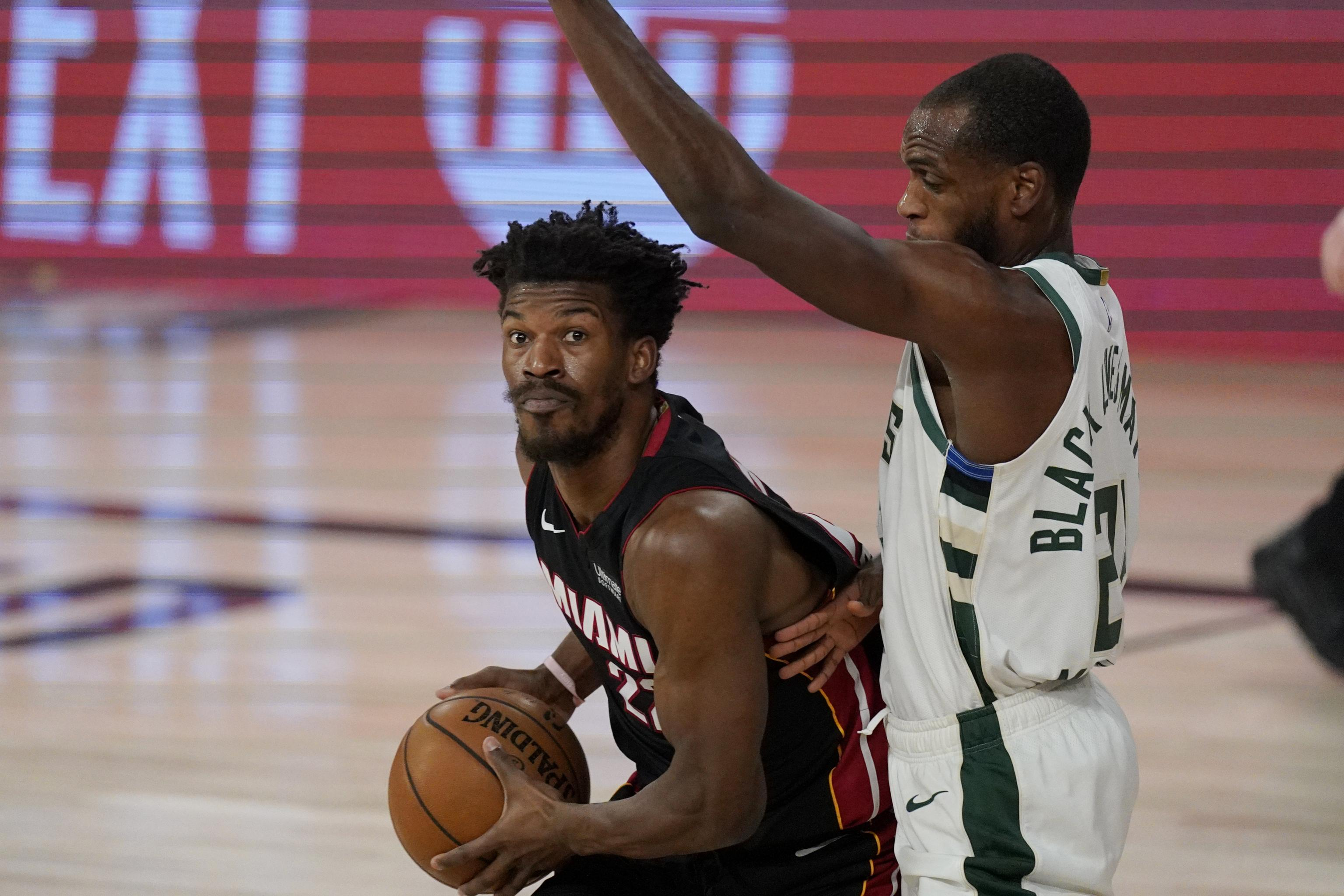 Jimmy Butler Heat Eliminate Bucks From Playoffs As Giannis Sits With Injury Bleacher Report Latest News Videos And Highlights