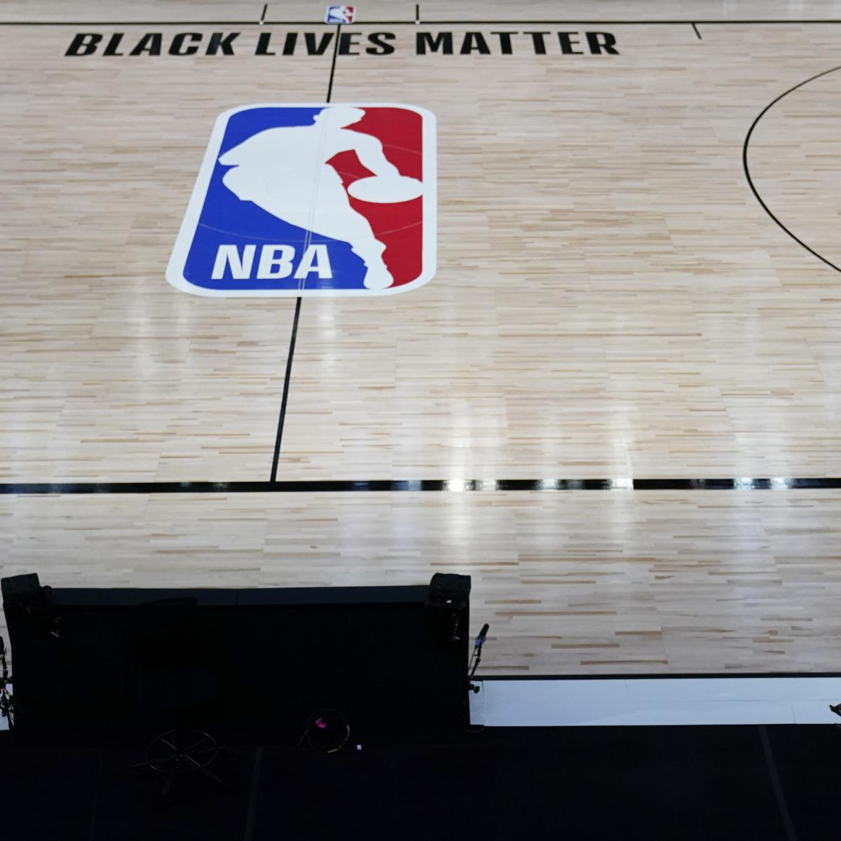 Black Lives Matter Protest Blocks NBA Media Bus After Lakers vs. Rockets