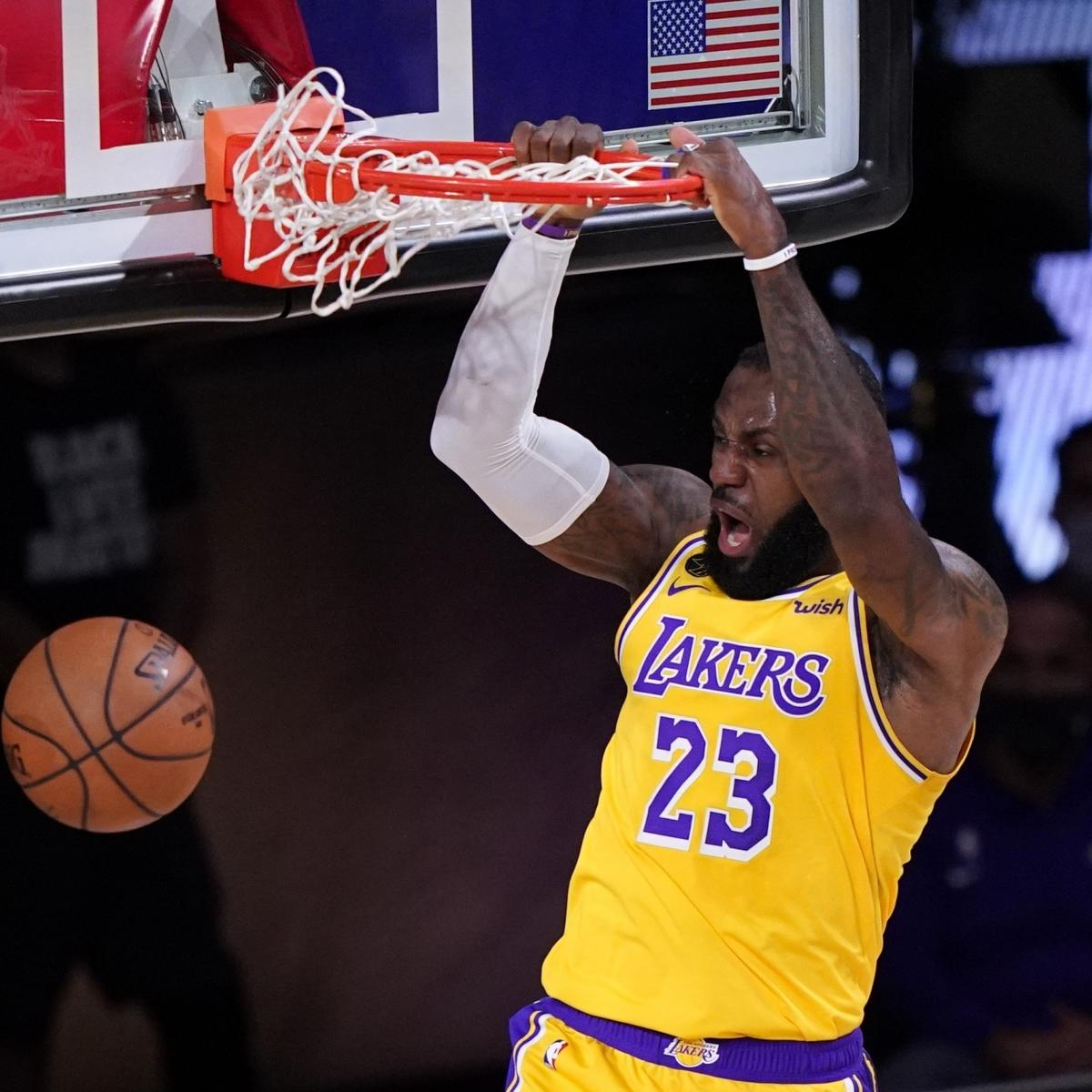 LeBron James, Anthony Davis Power Lakers to Dominant Game 1 Win vs. Nuggets thumbnail