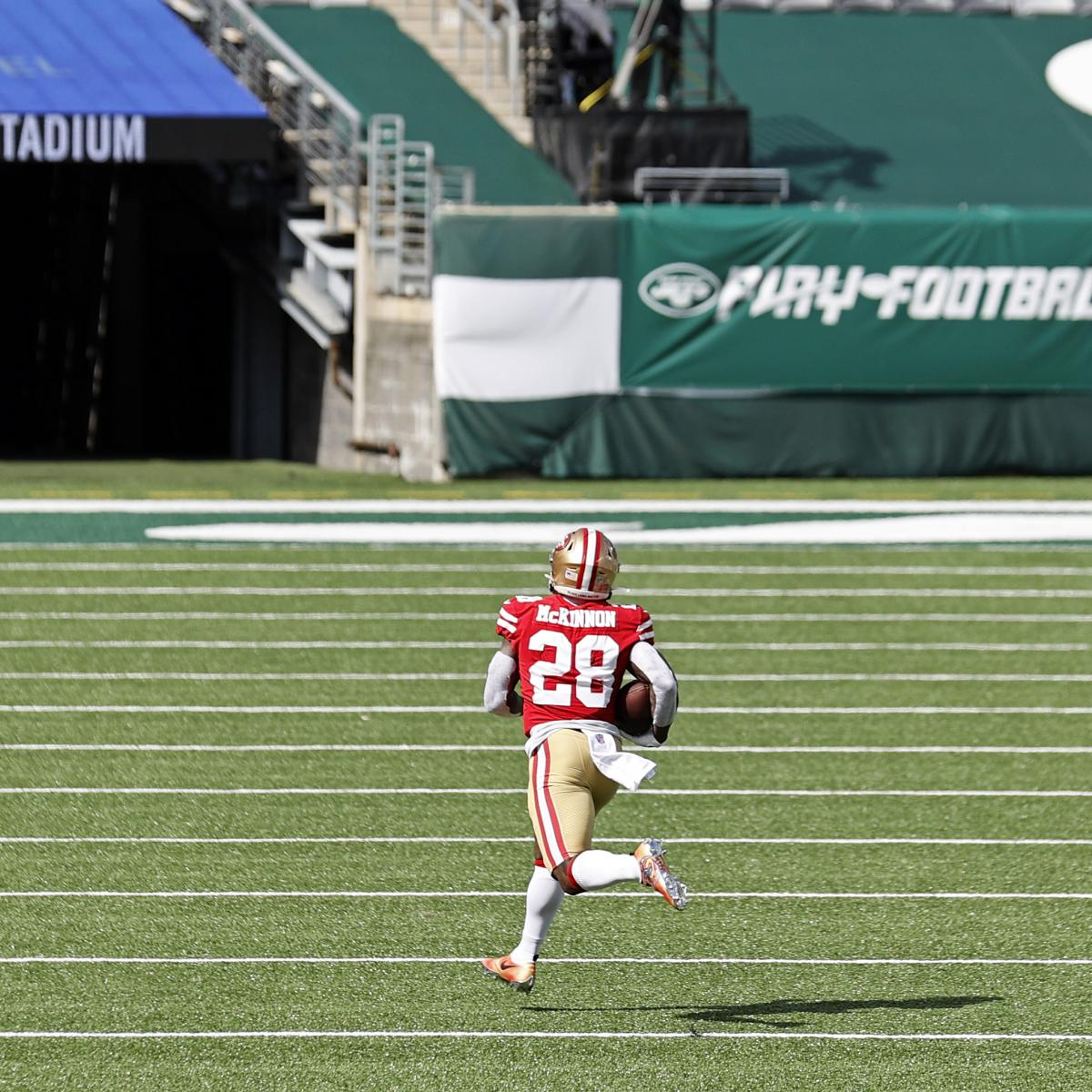 49ers' Jerick McKinnon: 'You Could Feel How Bad the Turf' Was at MetLife Stadium