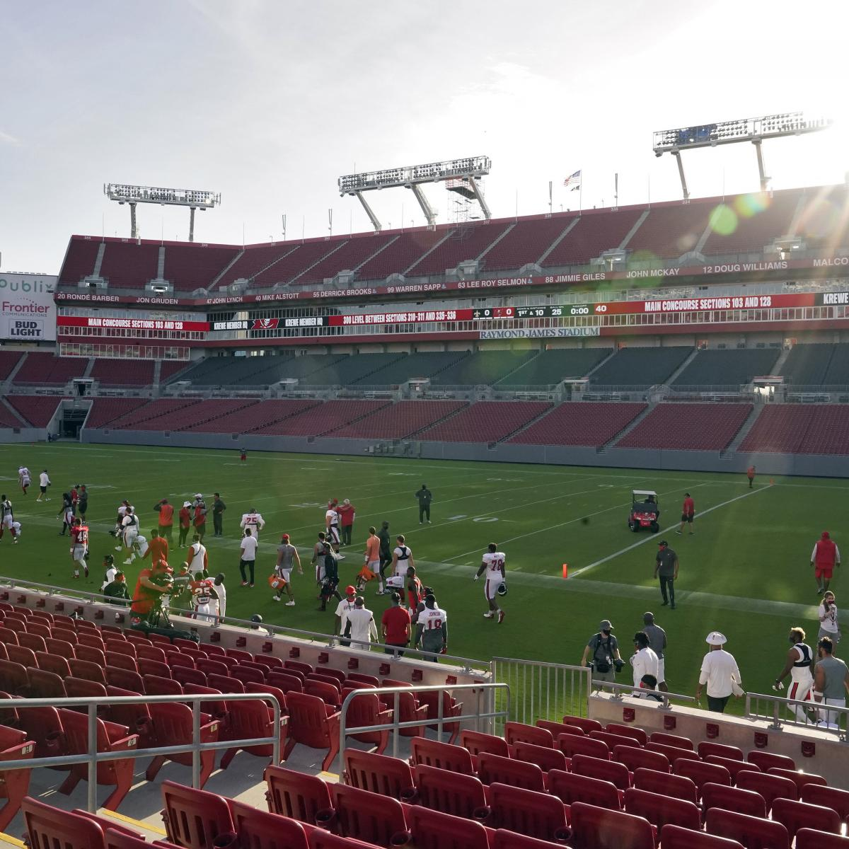 Buccaneers Games at Raymond James Stadium Could Allow Fans at 25% Capacity