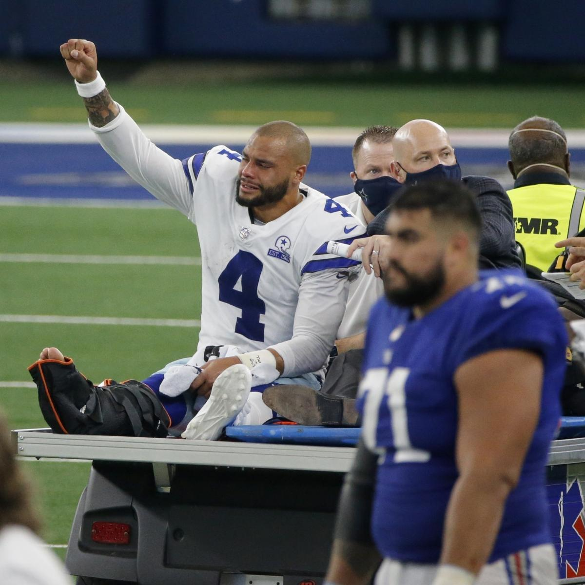 Cowboys' Dak Prescott Undergoes Surgery After Gruesome Ankle Injury