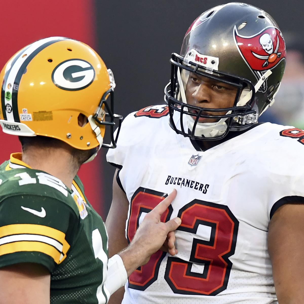Aaron Rodgers Expected to Settle Feud with Ndamukong Suh After Packers vs. Bucs