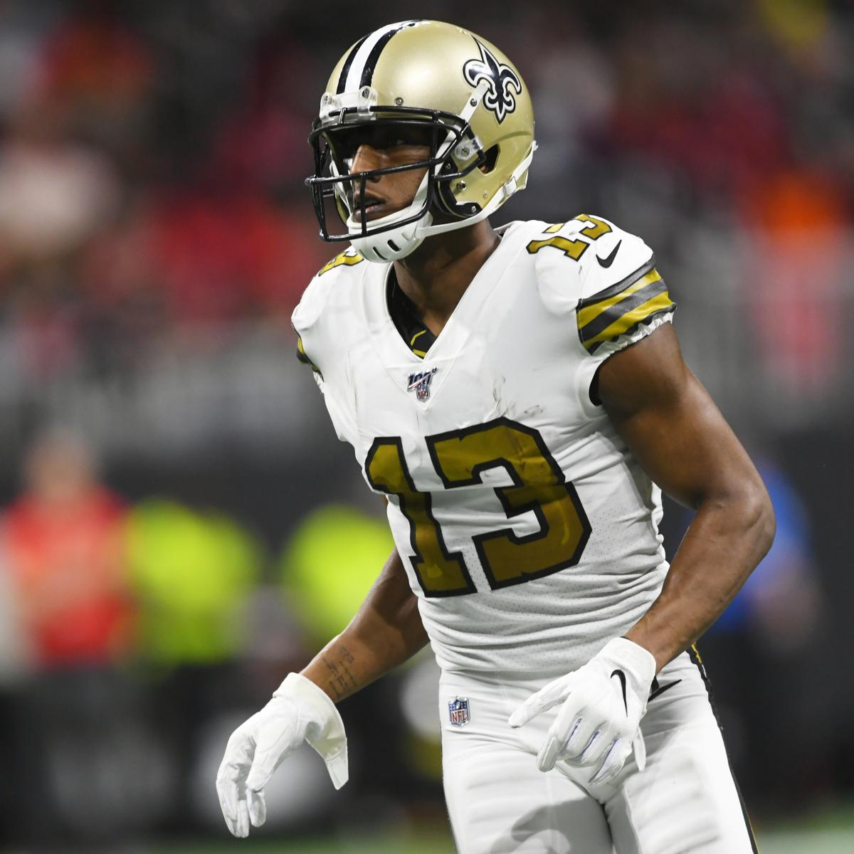 Saints' Michael Thomas Ruled out vs. Panthers Because of Hamstring Injury