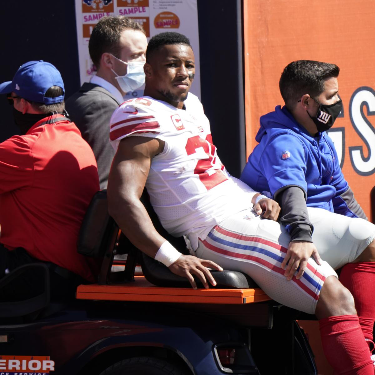 Report: Giants' Saquon Barkley to Undergo Surgery on Torn ACL Injury Next Week