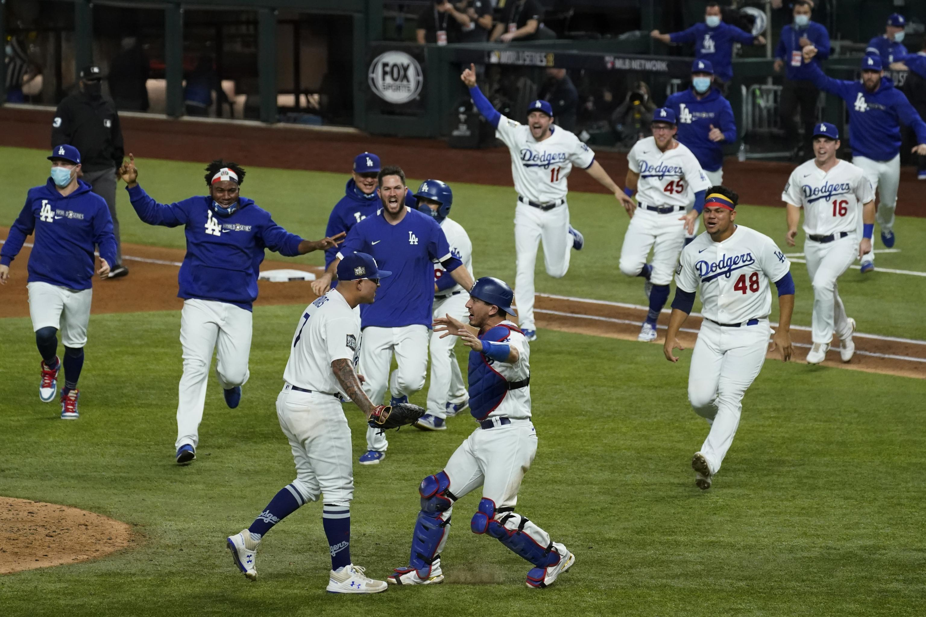 Dodgers Win 2020 World Series: Highlights, Twitter Reaction to Celebration  | Bleacher Report | Latest News, Videos and Highlights