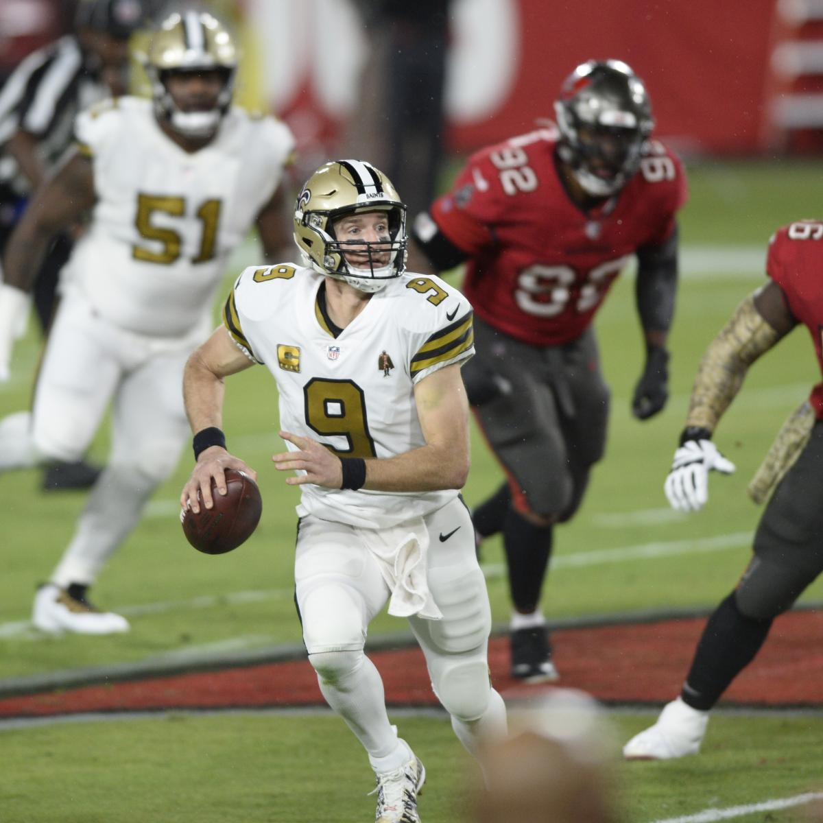 Drew Brees, Saints Dominate Tom Brady, Bucs in Antonio Brown's TB Debut