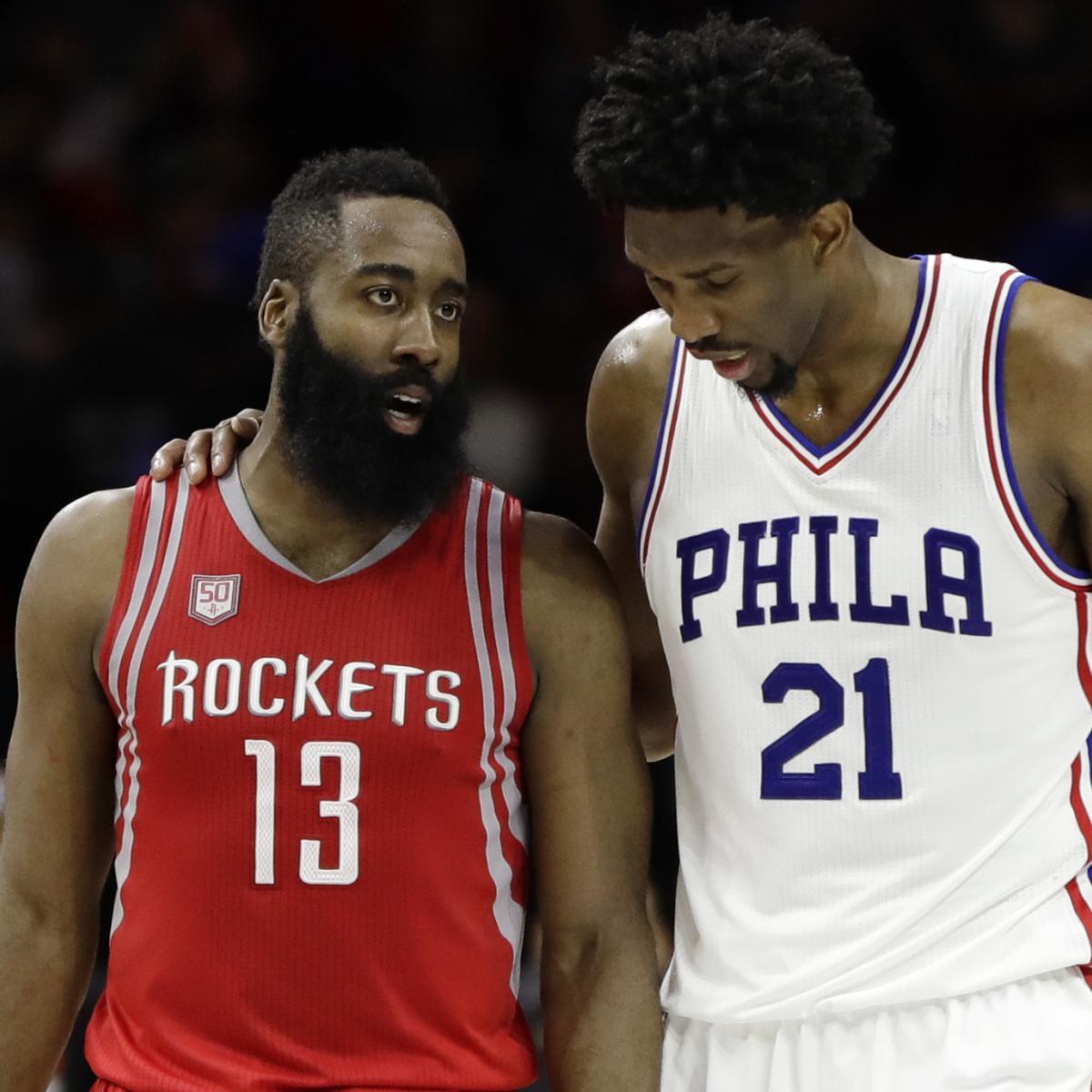 <p>Sixers, Nets May Not Make Sense as James Harden Trade Destinations thumbnail