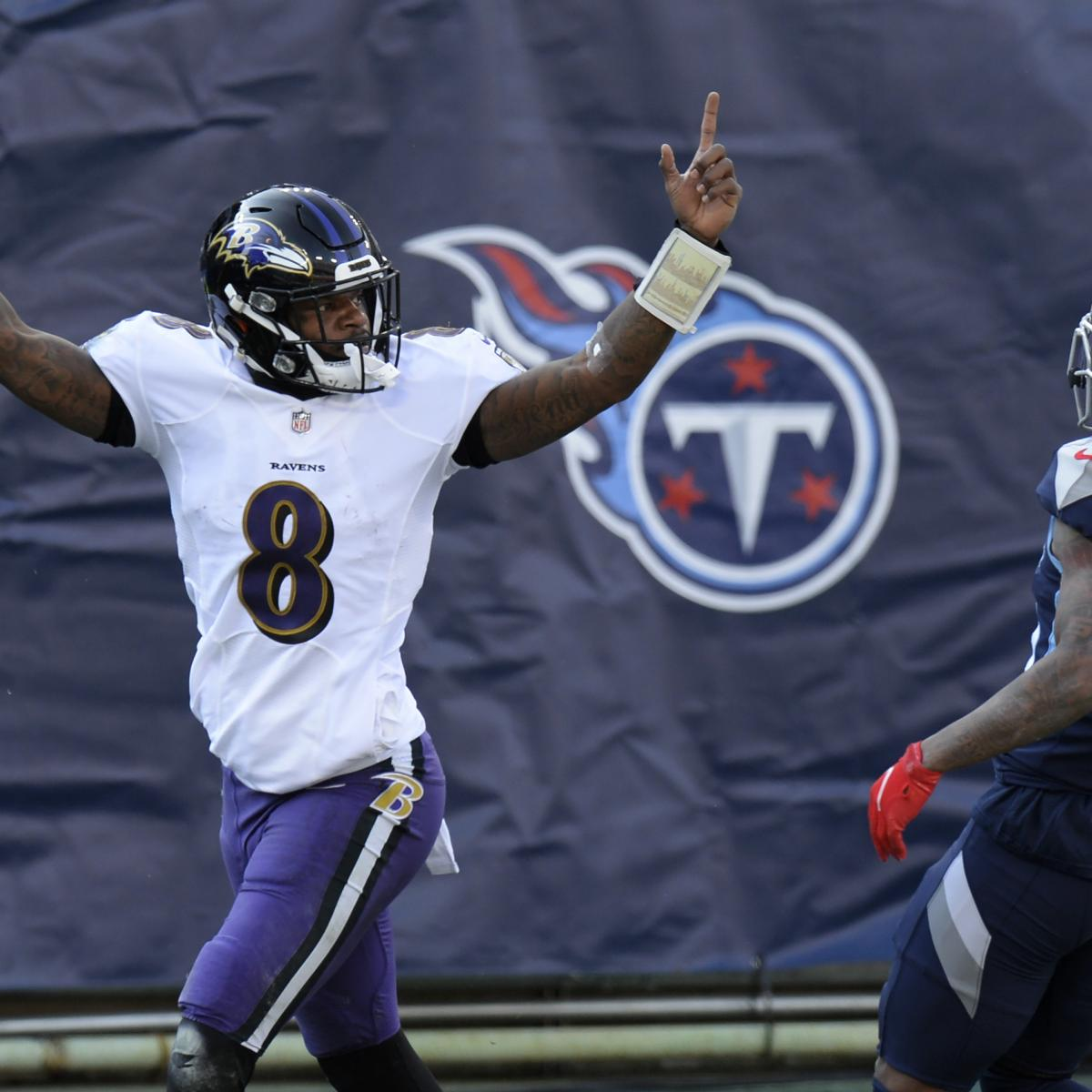 Lamar Jackson Gets 1st Playoff Win, Ravens Rally to Beat Derrick Henry, Titans