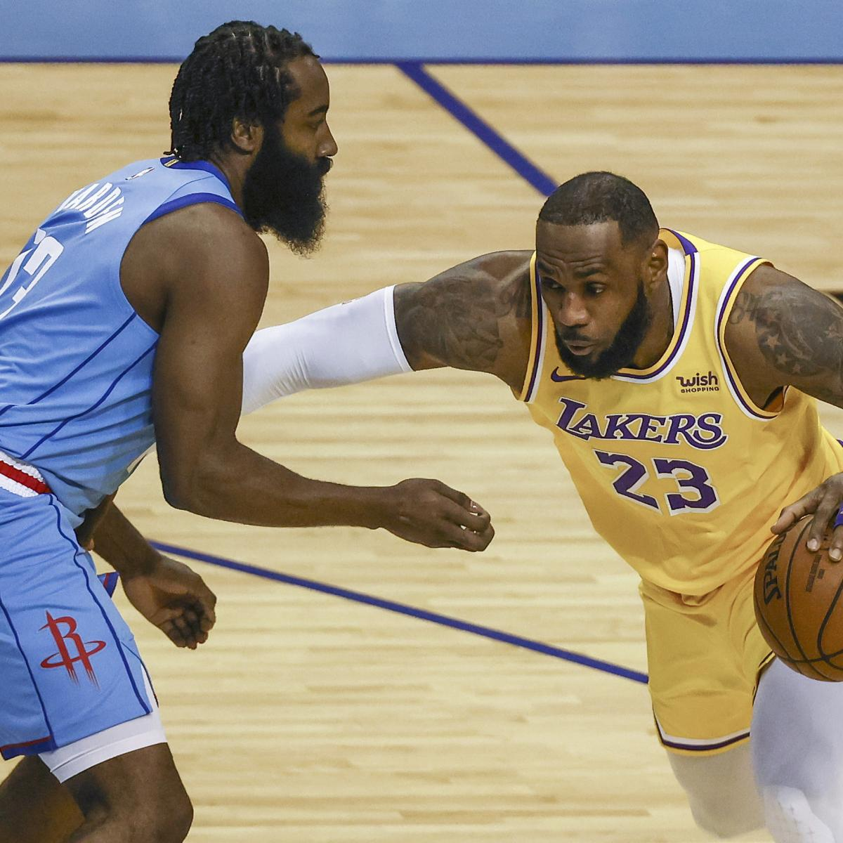 LeBron James Scores 26, Lakers Crush James Harden, Rockets 117-100