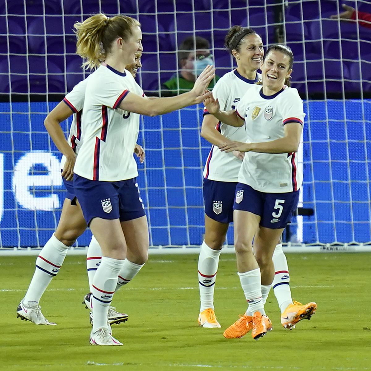 <p>Sam Mewis' Hat Trick Propels US Women's National Team Past Colombia at Friendly thumbnail